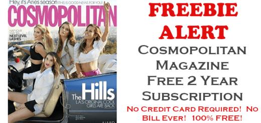 Cosmopolitan Magazine FREE 2 Year Subscription