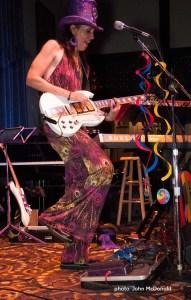 Groovy Judy on guitar