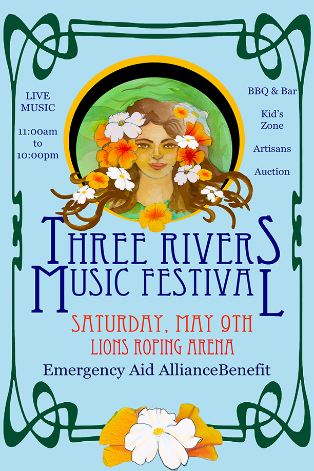 Three Rivers Music Festival flyer