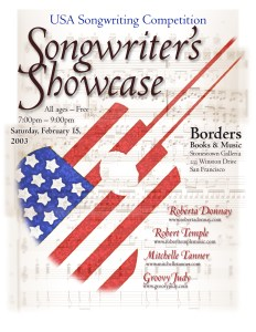 Songwriter's Showcase flyer 02-15-03