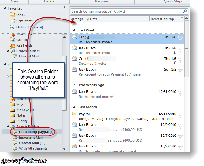 How To Create And Use Search Folders In Outlook 2010