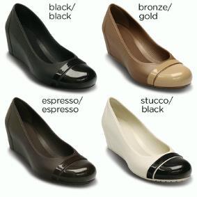 jual sepatu crocs captoe wedges 085888666607