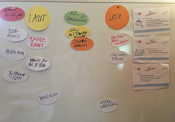 Neuer Jugendtreff in Großschönau. Neue Ideen werden erfragt und gesammelt