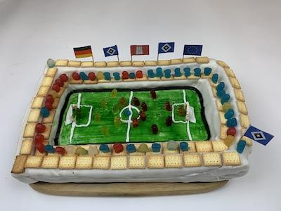 geburtstagskuchen fussball stadion des