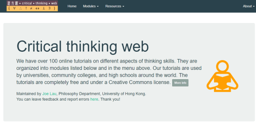 critical thinking web, resource, logic