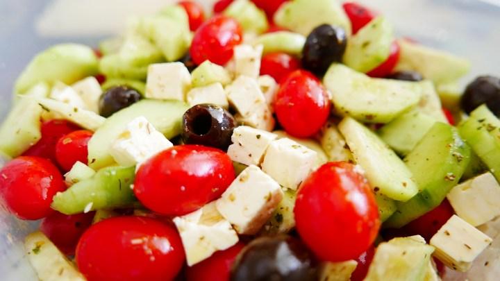 Greek salad, evidence