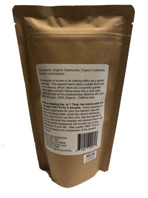 Loose leaf Chamomile blend tea back