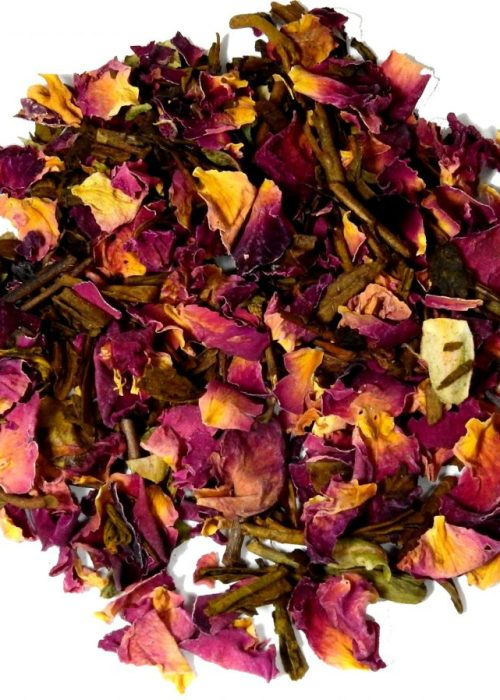 HOJICHA RED ROSE Afternoon Green Tea, Organic