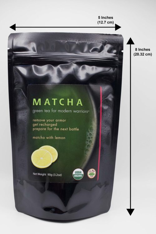 Matcha Lemon Pouch Dimensions