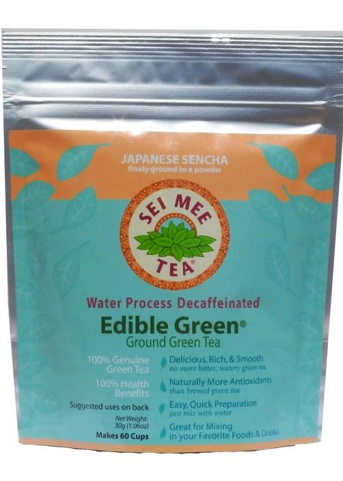 Edible Green Tea Sencha Powder Water Process Decaffeinated - 60 cups