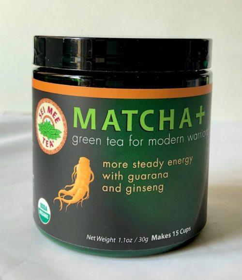 organic matcha with organic ginseng