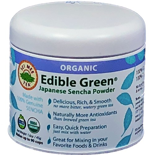 sencha green tea powder, edible green tea