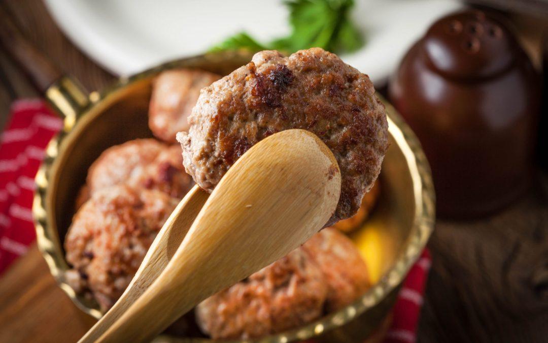 Mediterranean Lamb Meatballs with Matcha