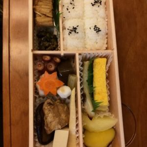 Bento lunch in Shinkansen