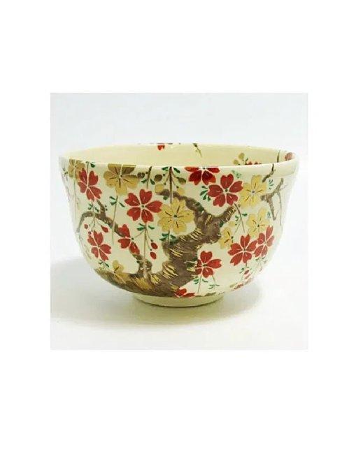 Sakura matcha bowl ninsei