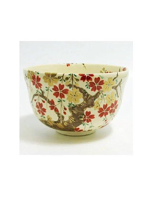 Ninsei Matcha Tea Bowl Sakura