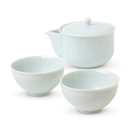 Japanese tea set Celadon