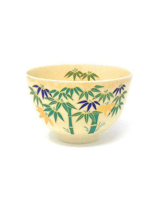 ninsei matcha tea bowl bamboo