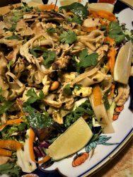 matcha pad Thai noodle