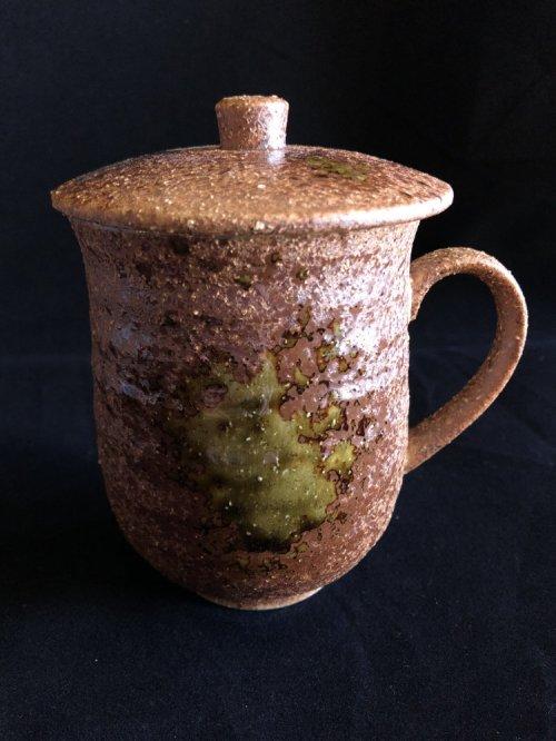mug with lid oribe ware