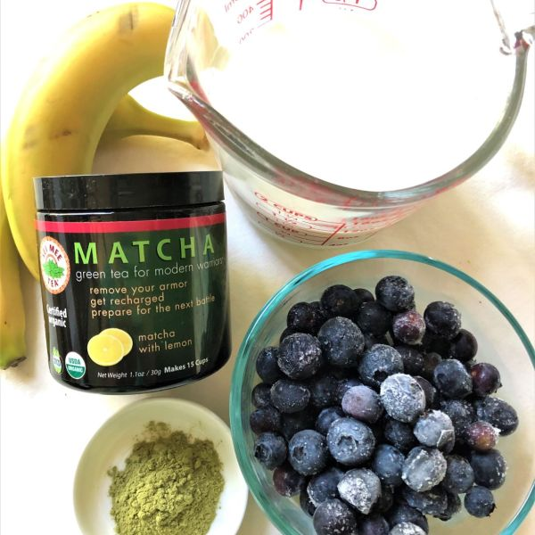 matcha lemon blueberry smoothie ingredients