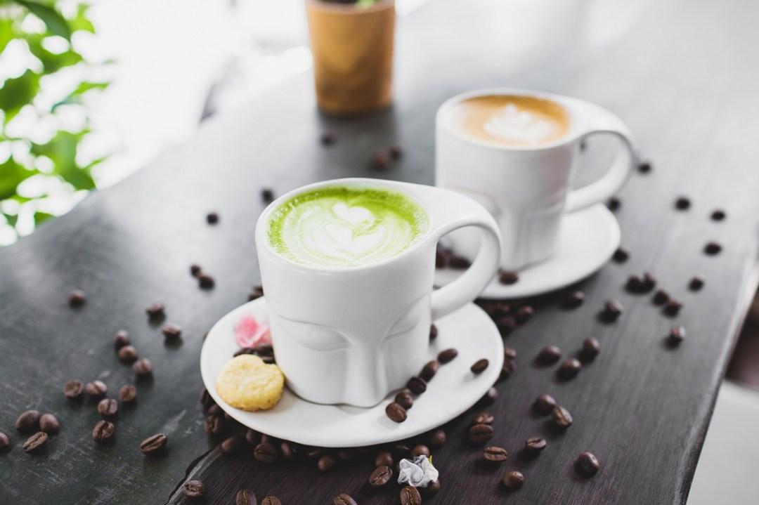 Compare caffeine with Matcha and Coffee
