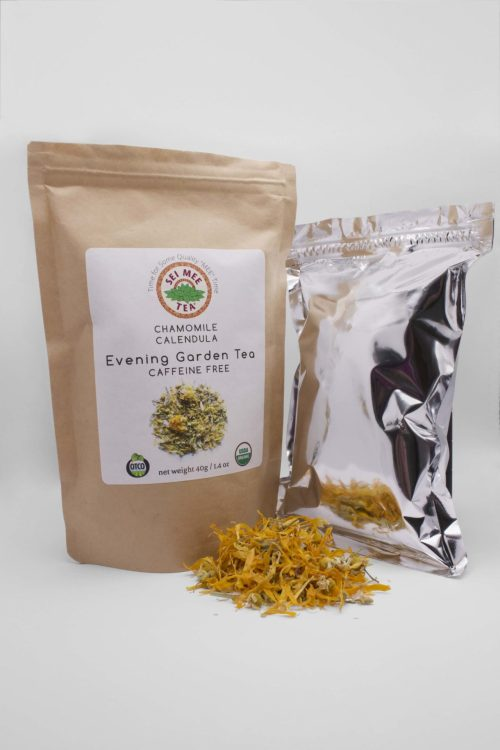 Chamomile Tea pouch with contents
