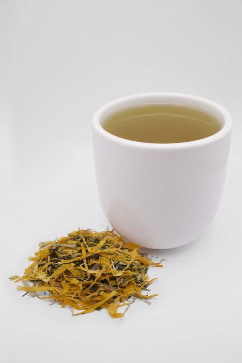 Fukamushi Sencha Lemongrass Loose Leaf Tea Cup of Tea
