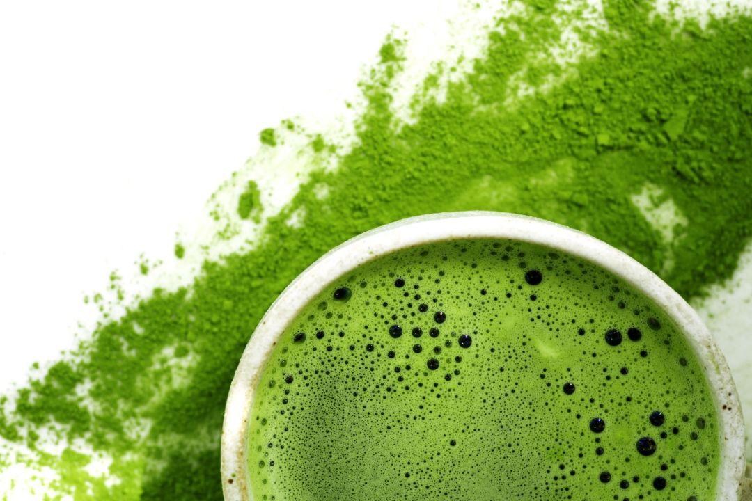 vivid green matcha