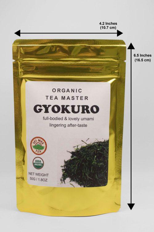 Tea Master Gyokuro Dimensions of Pouch