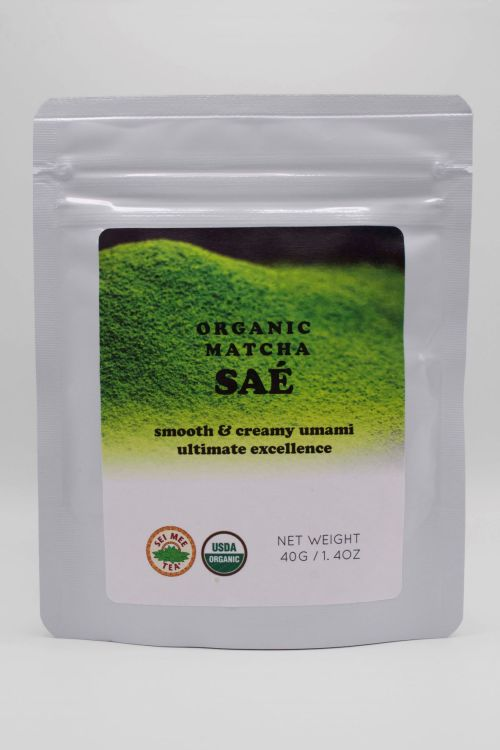 Organic Matcha SAE front pouch view