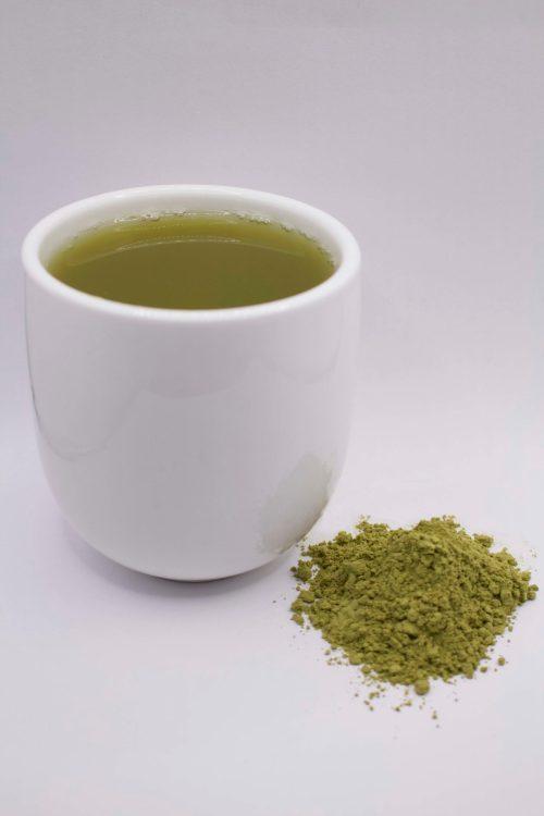 Cup of Decaffeinated Edible Green Sencha