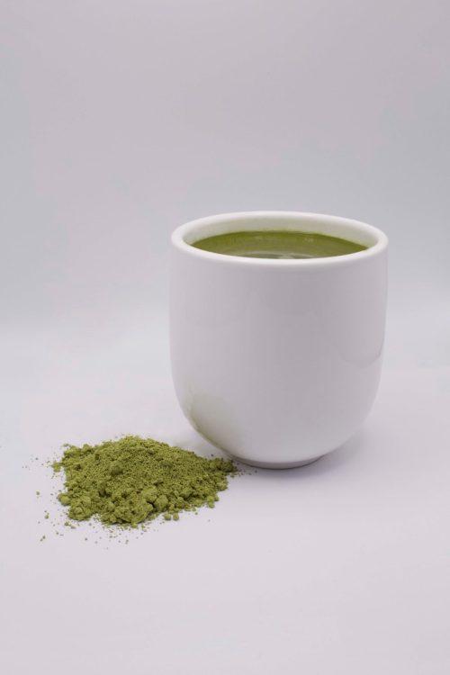 Edible Green Sencha Cup of Tea
