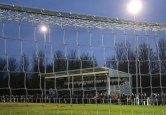Mariners Park under floodlights.
