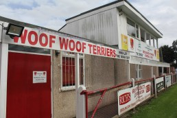 The clubhouse at Bedlington's Doctor Pit Welfare Park ground.
