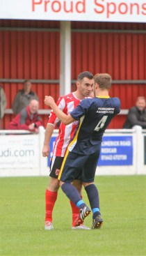 The incident that led to Guisborough's Thibault Chamrey being sent off.