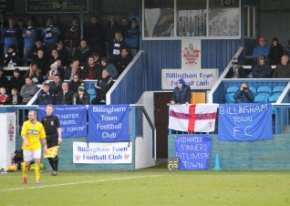 Banners on display at Bedford Terrace, home of Billingham Town.