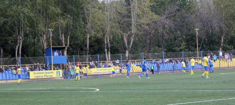 The new seating area at Reutov's Start Stadium.