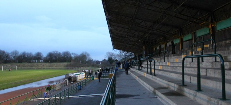 Central Avenue's main stand, with ample terracing in front of it.