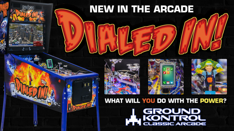 Image for New In The Arcade – Dialed In! (Jersey Jack, 2017)