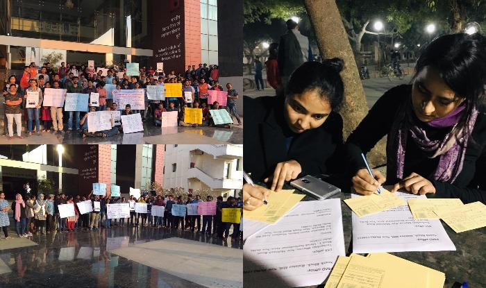 Hike fellowship : Research scholars 4th day prtotest IIT delhi post card campaign IISER pune on strike