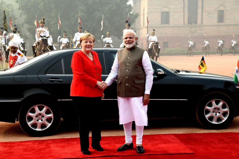 angela merkel in delhi pollution