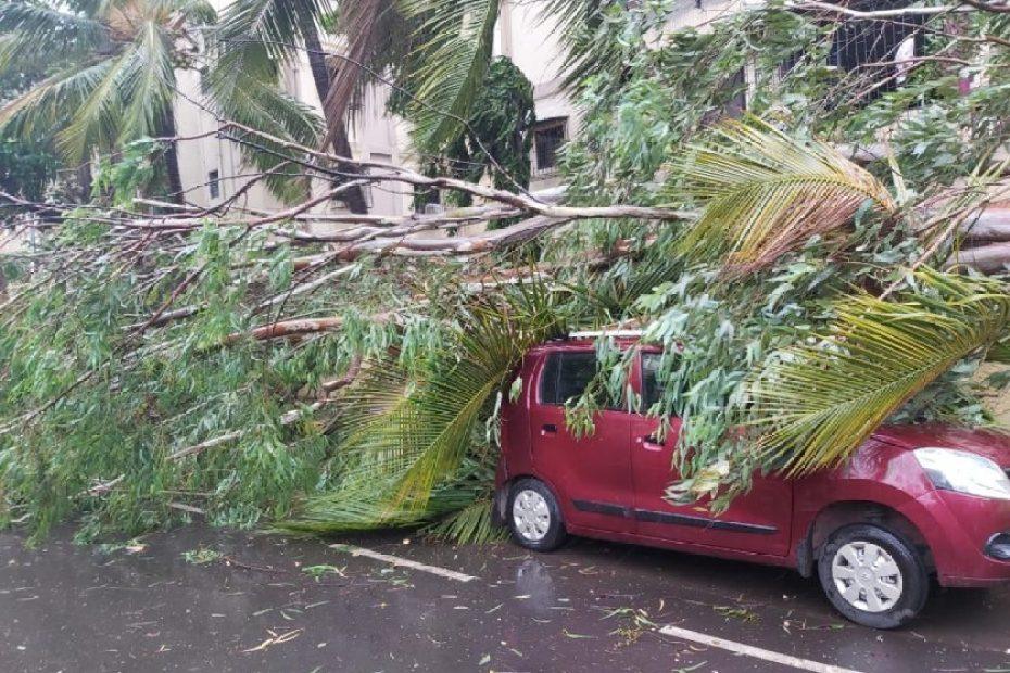 Nisarga Cyclone Landfall