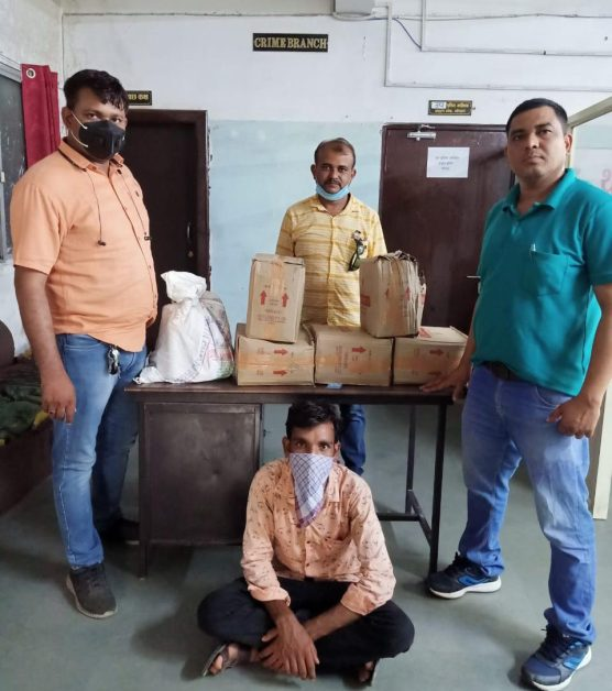 Bhopal: Crime Branch arrested person selling illegal liquor in lockdown