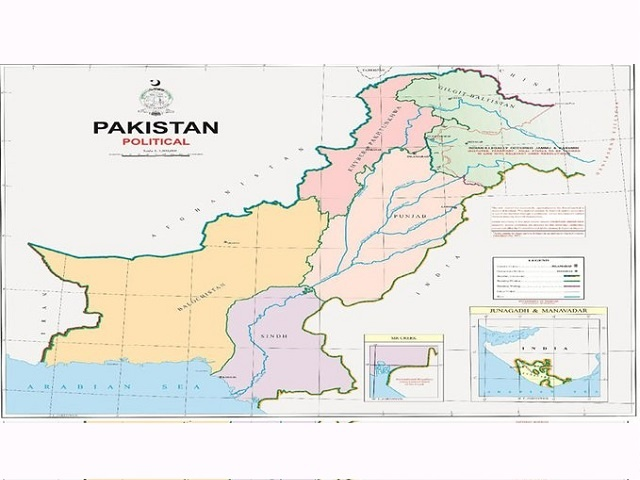 Jammu & Kashmir and Junagarh district in Pakistan's new political map