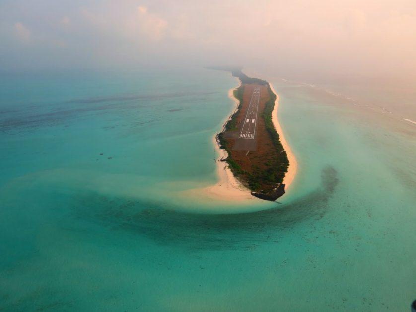 Agati Island runway Lakshadweep islands