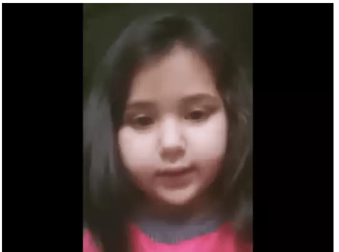 six years old kashmiri girl video message to pm modi complaint about online classes