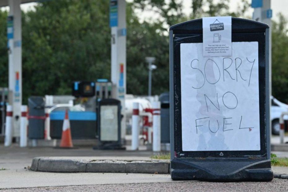Petrol crisis in UK