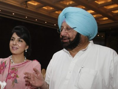 Aroosa Alam and Amarinder Singh