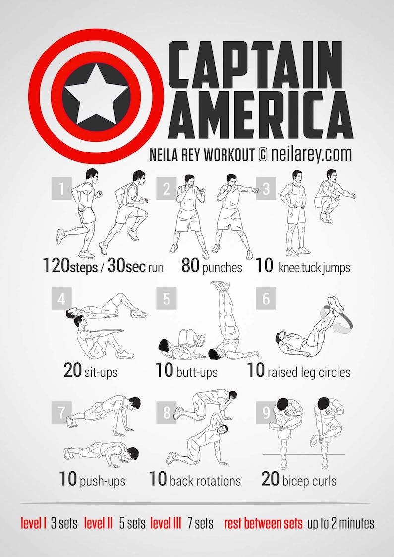 workout-routine-avengers-captain-america